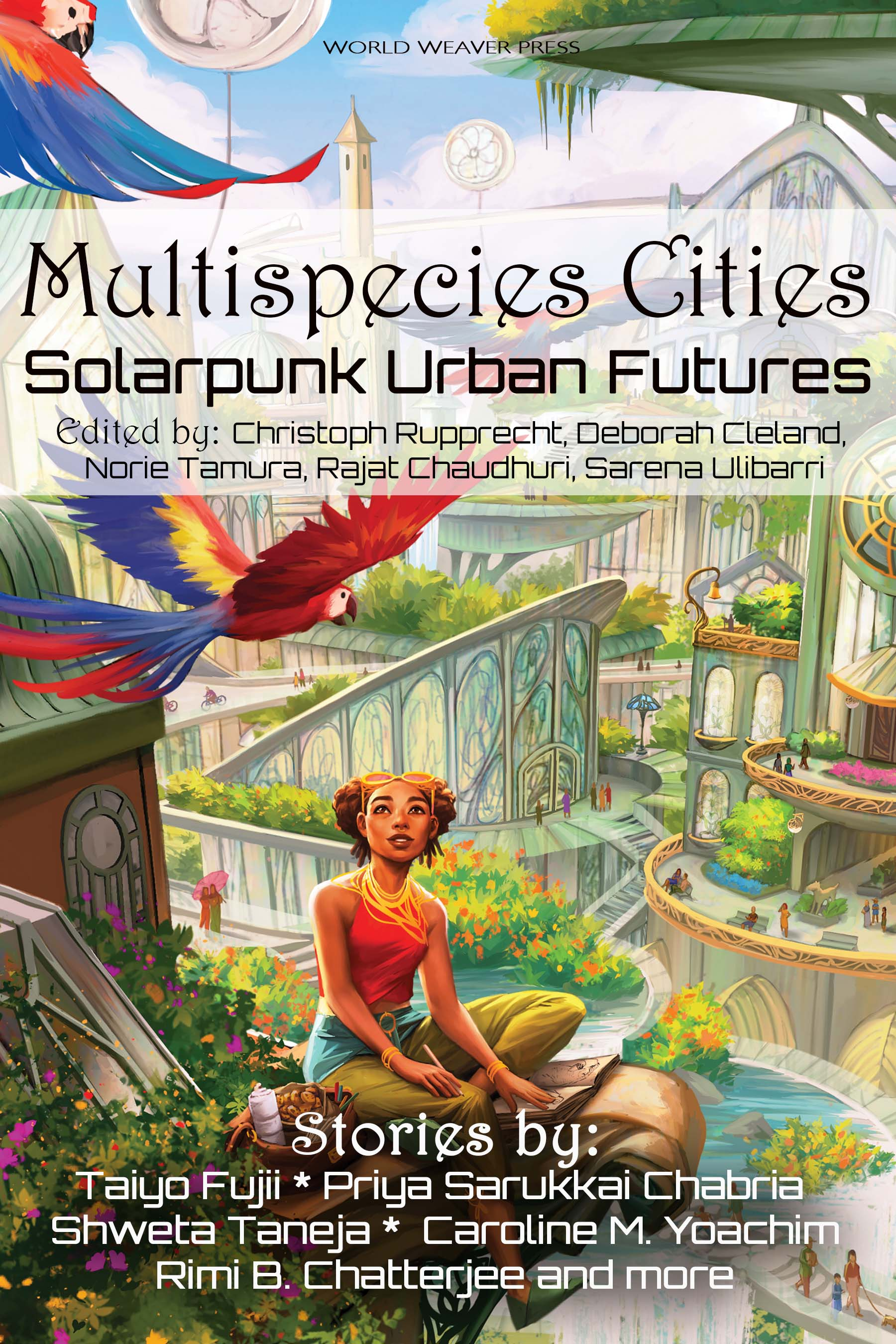 Cover image of Multispecies Cities book with illustation and title